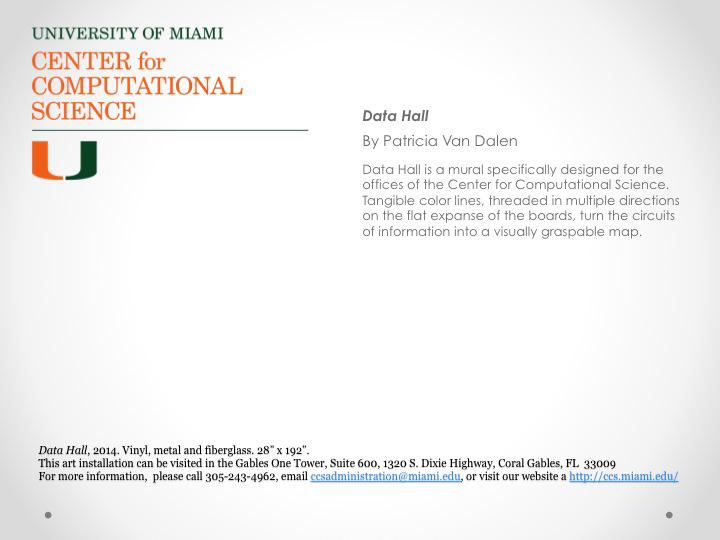 Invitation-Data Hall