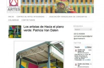 Los artistas de Hacia el plano verde: Patricia Van Dalen (Artists to the green plane)