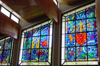Jesus and Mary's Stained Glass windows