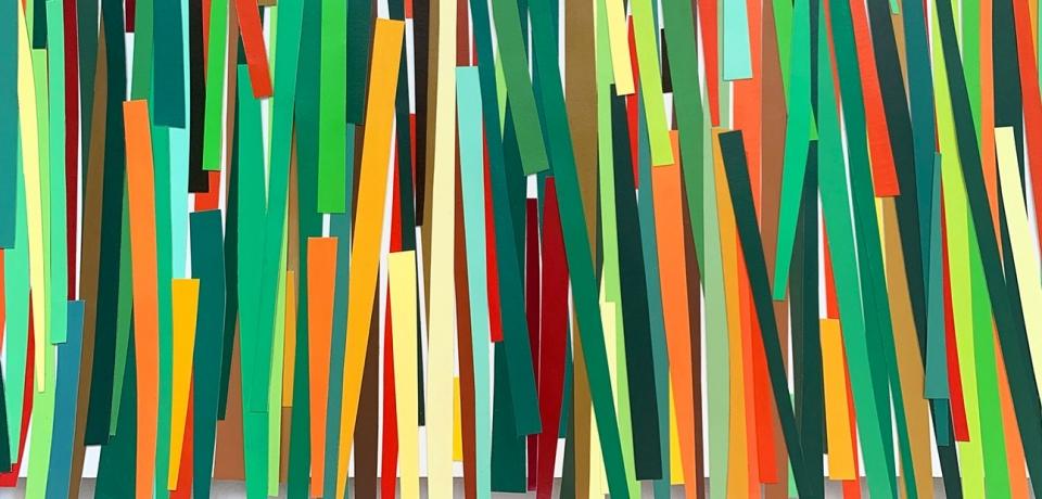 Grasses, 2020, collage installation