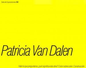 Patricia Van Dalen - Catálogo Exposición Sala RG